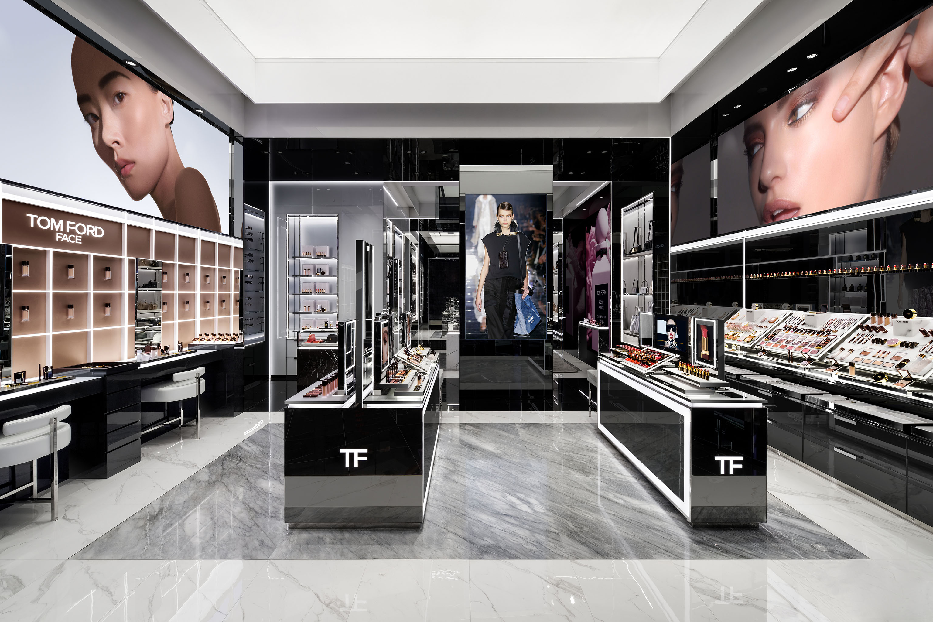 Inside Tom Ford Beauty's Guangzhou store.