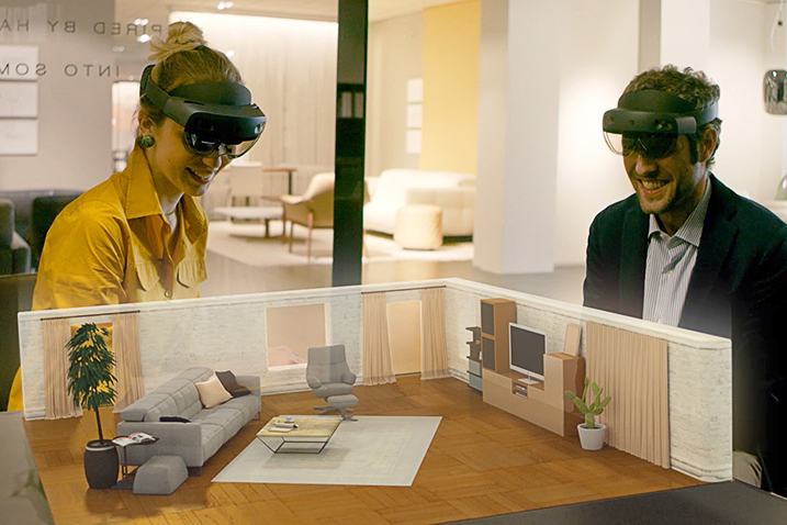 Natuzzi emphasizes the experiential.
