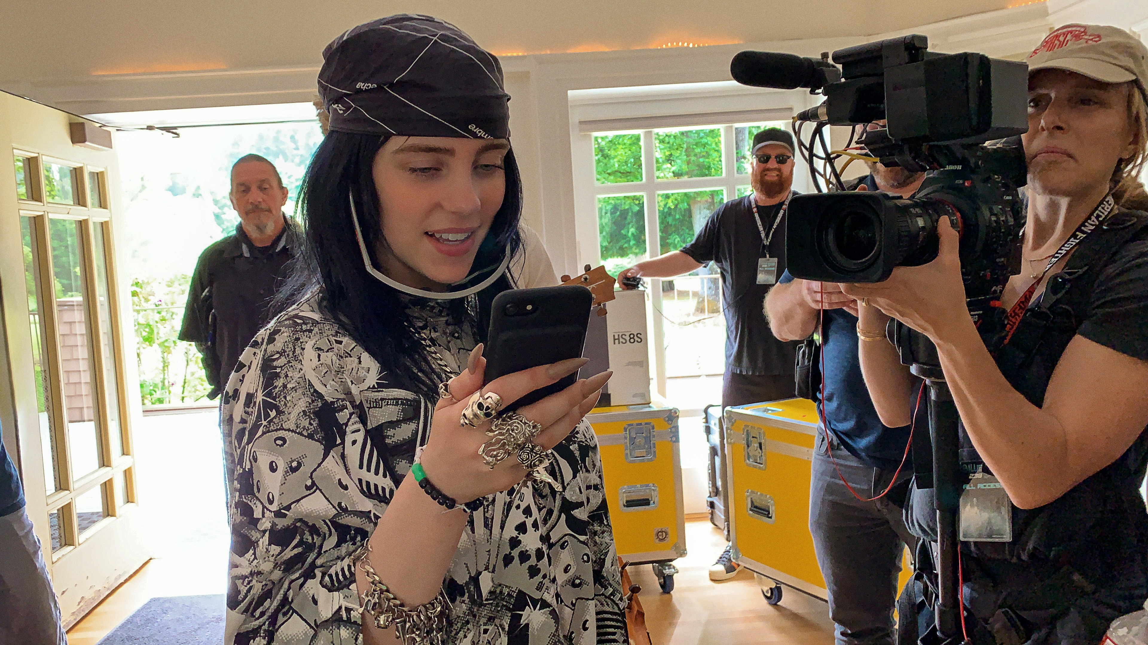 "A still from ""Billie Eilish: The World's a Little Blurry."""