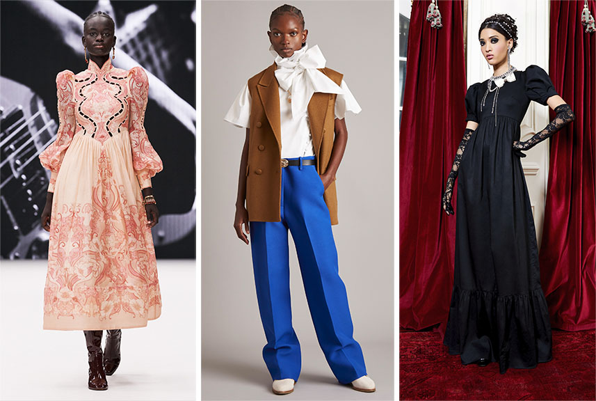 From Left: Zimmermann, Adam Lippes, and Alice & Olivia.