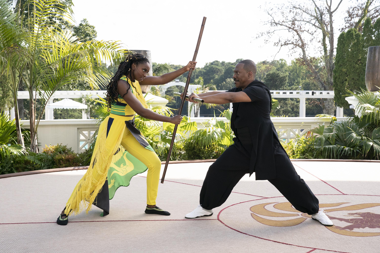 KiKi Layne and Eddie Murphy star in COMING 2 AMERICA Photo Courtesy of Amazon Studios