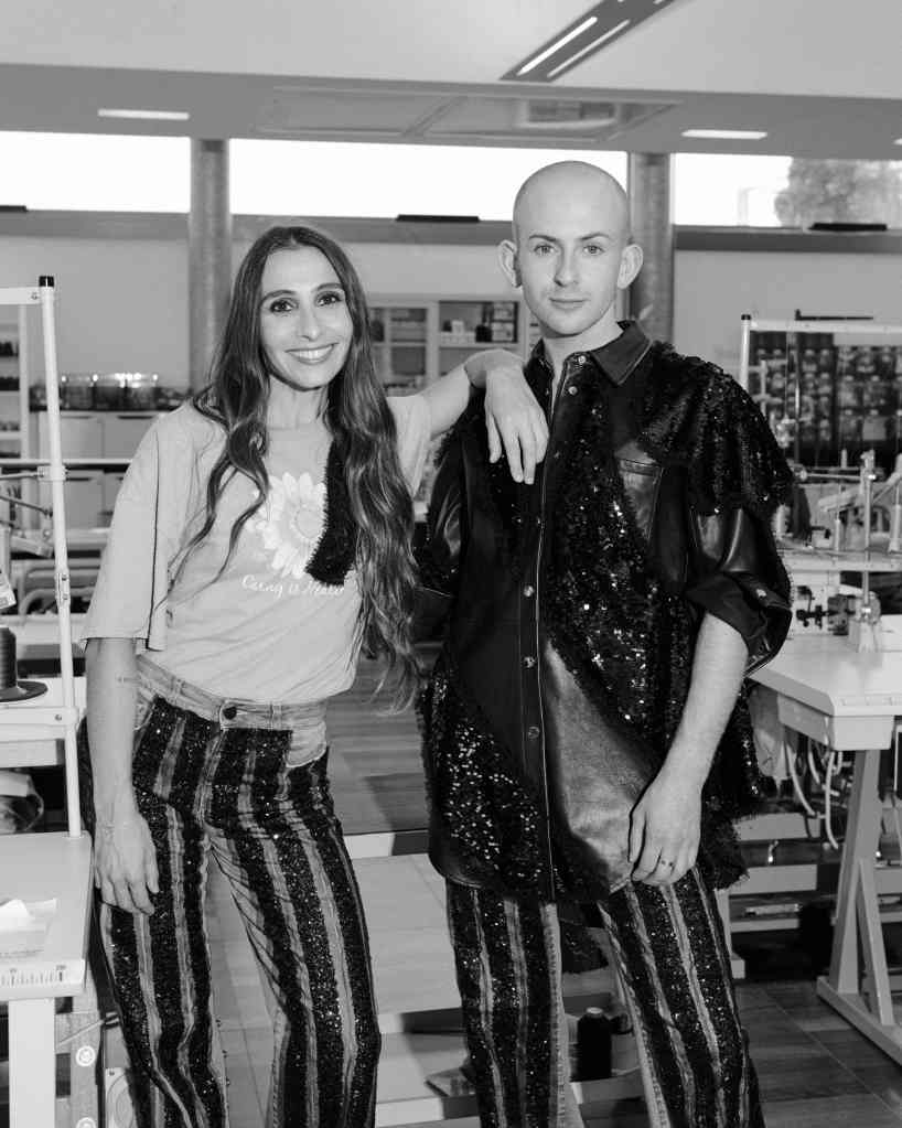 Pinko's creative director Caterina Negra with Patrick McDowell, the brand's newly appointed sustainability design director.