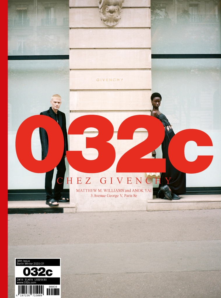 One of five covers of the 032c 20th anniversary issue featuring Givenchy's Matthew Williams.