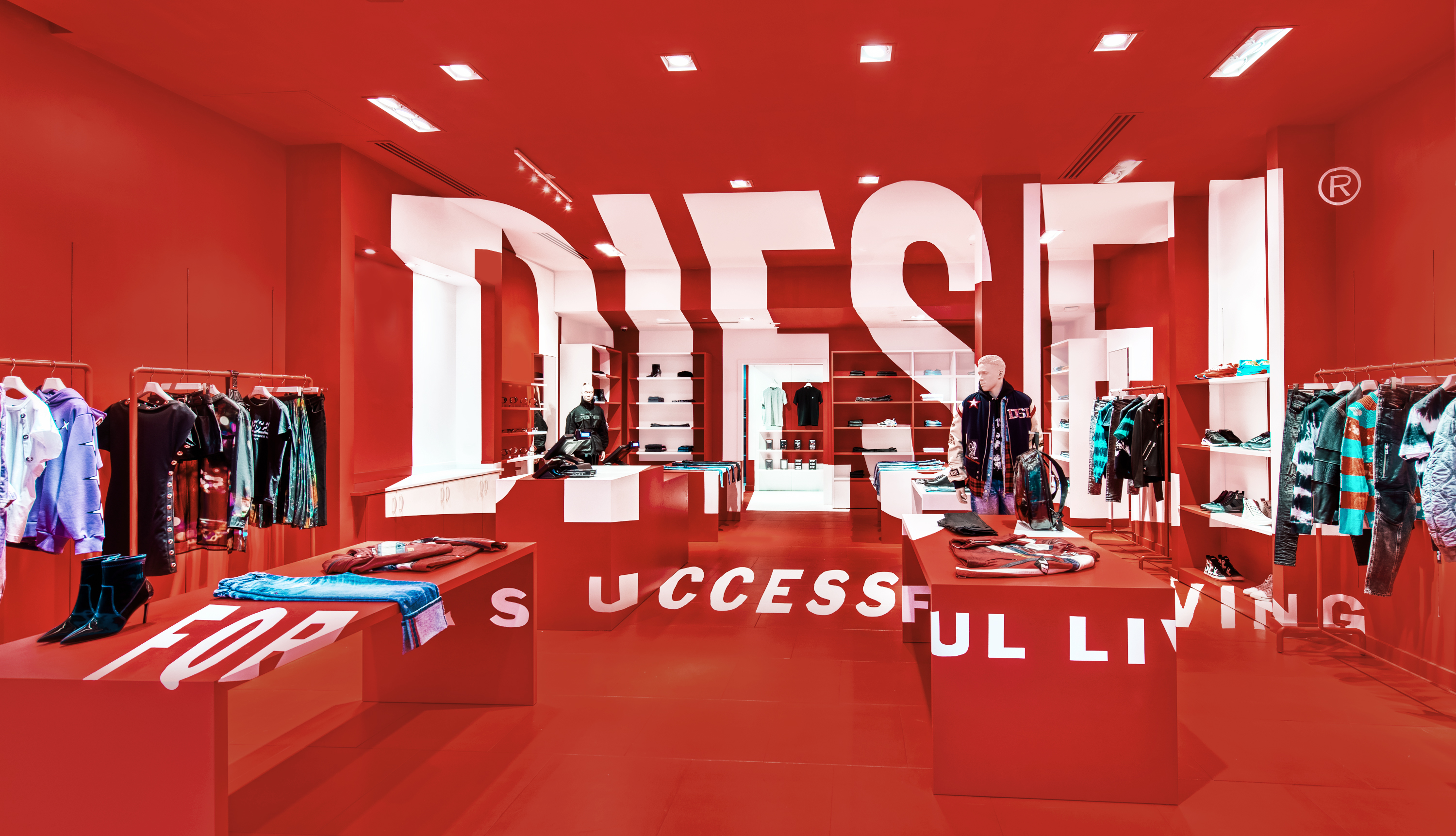 Inside the new Diesel's pop-up store concept conceived by Glenn Martens.