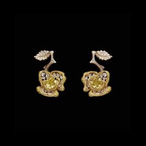 Dior Rose Earrings
