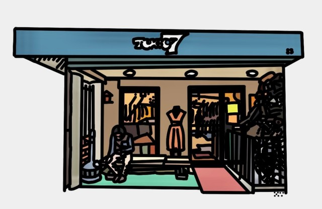A sketch of the Tokio7 boutique.