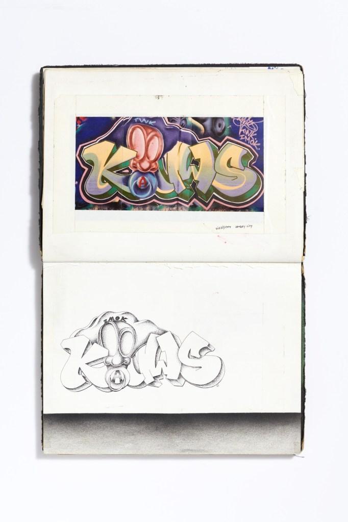 KAWS (American, born 1974). Interior spread from UNTITLED (Blackbook), circa 1993. Photograph, ink on paper, 12 1/2 × 8 in. (31.8 × 20.3 cm). © KAWS. (Photo: Brad Bridgers Photography)