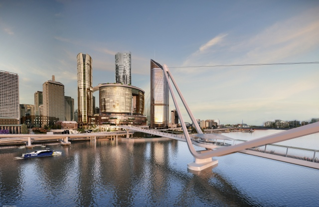 A mock up of Queen's Wharf