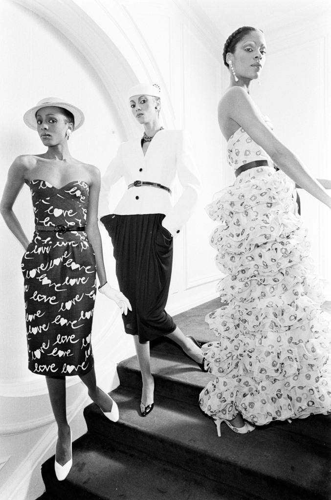 Contracted models Diane Washington, Sandi Bass and Lynn Watts at the Givenchy Atelier.