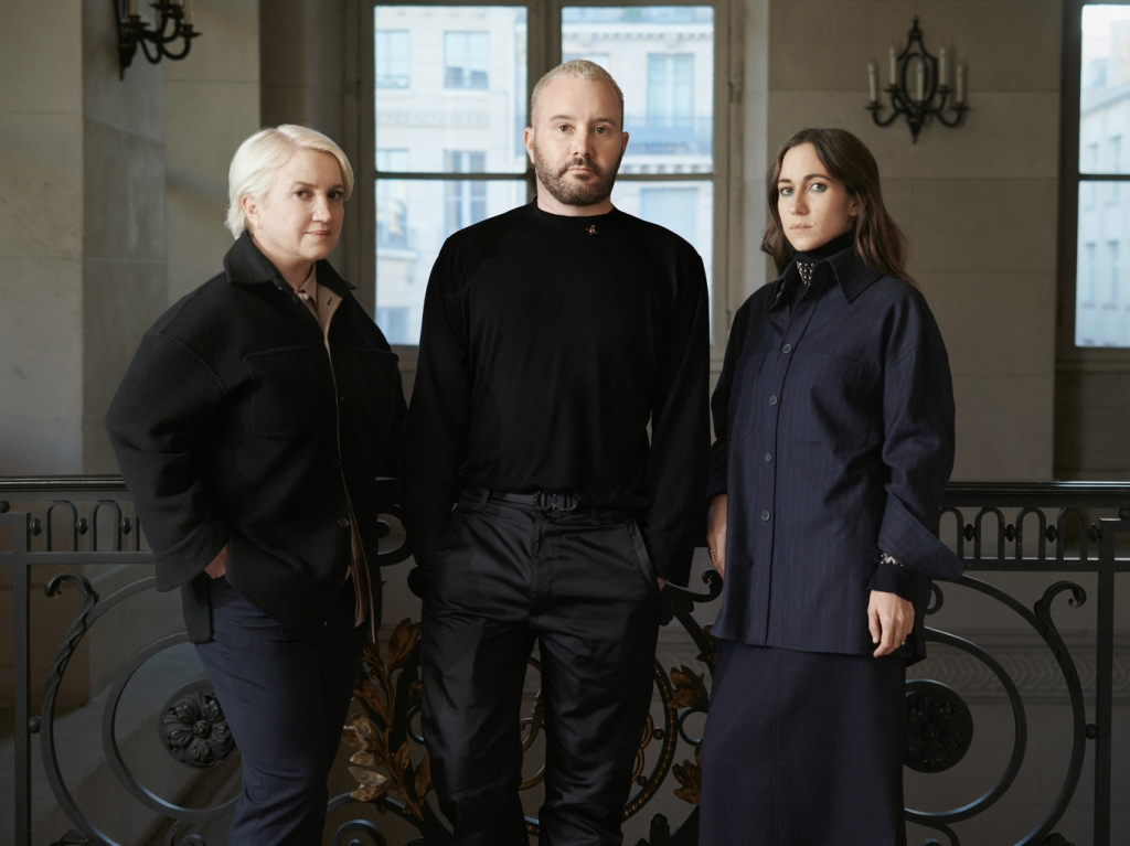 Kim Jones, Silvia Venturini Fendi and Delfina Delettrez
