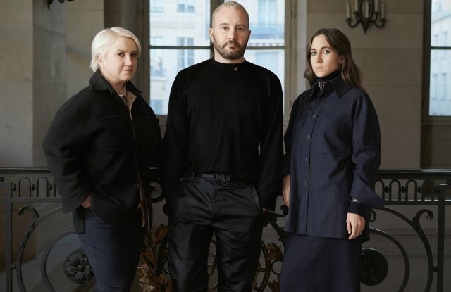 Kim Jones, Silvia Venturini Fendi and Delfina Delettrez