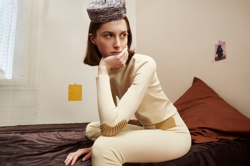 A look from the Flapper fall 2021 knitwear capsule collection.