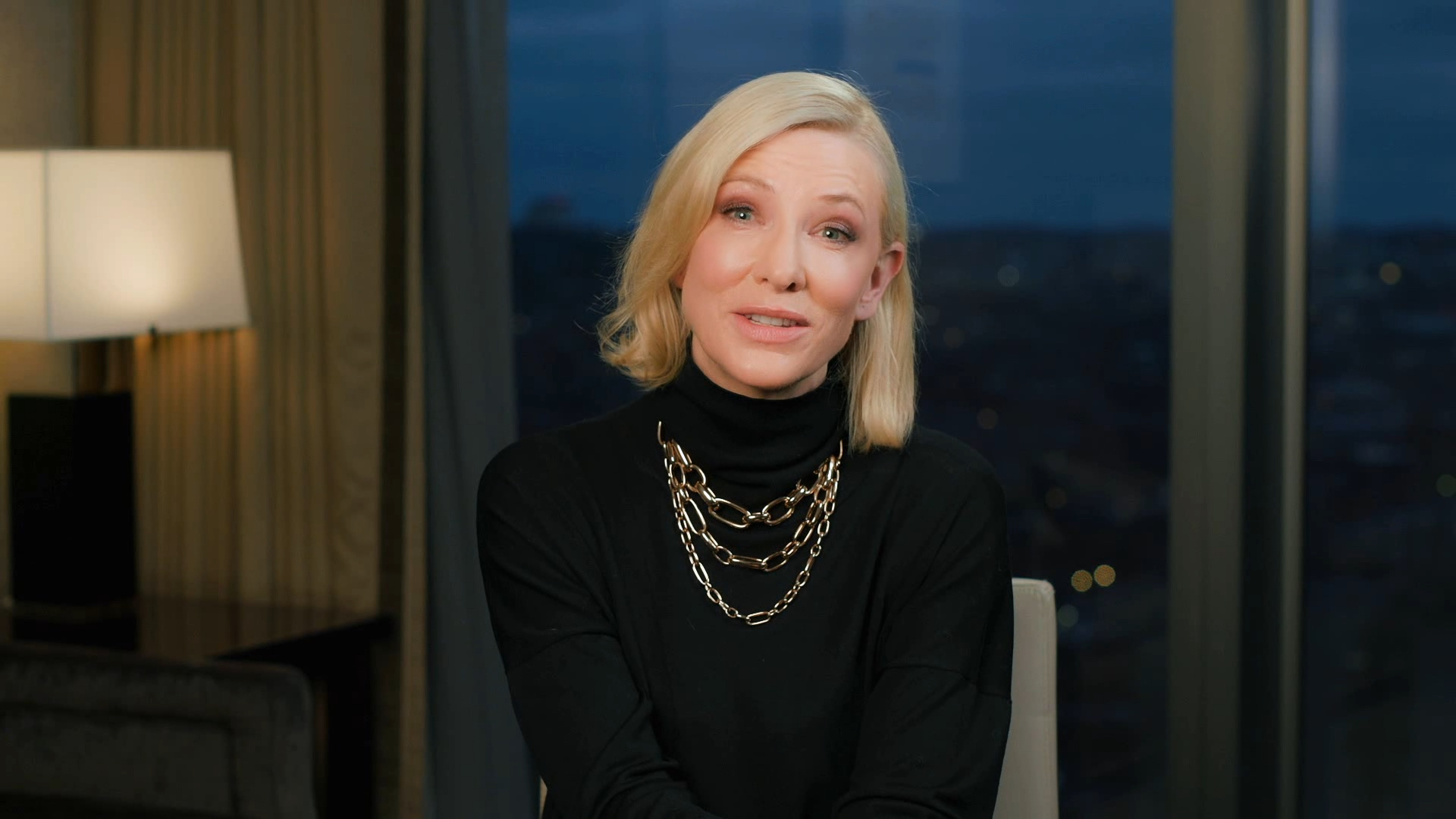 Cate Blanchett, recipient of the Lifetime Achievement Award at the 2021 G'Day USA AAA Arts Gala.