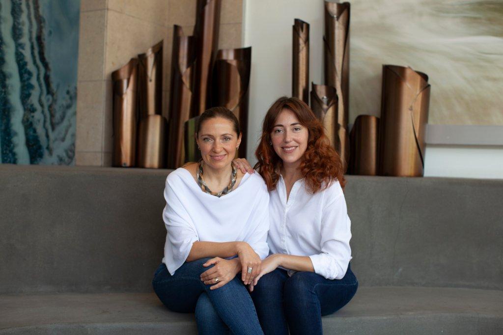 Good Face Project founders Iva Yovchev Teixeira and Lena Skliarova-Mordvinova.