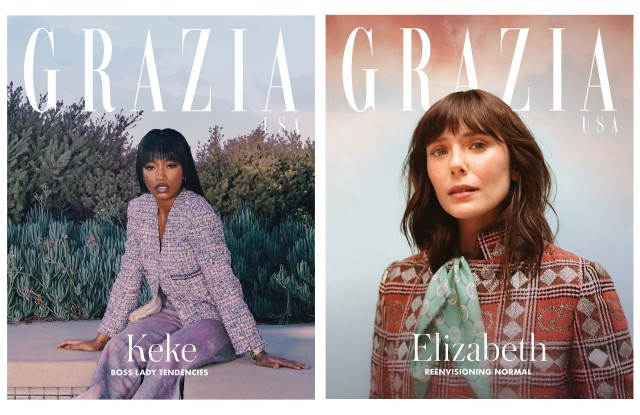 The Grazia covers featuring Keke Palmer and Elizabeth Olsen.