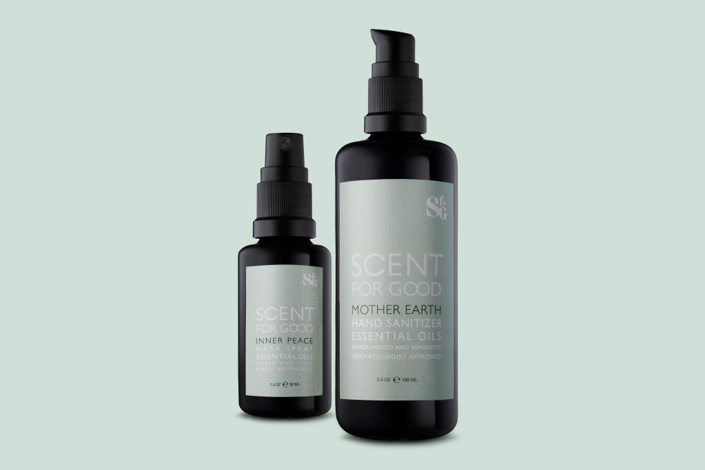 Scent for Good's two debut products are a hand sanitizer and mask spray, priced $35 and $45, respectively.