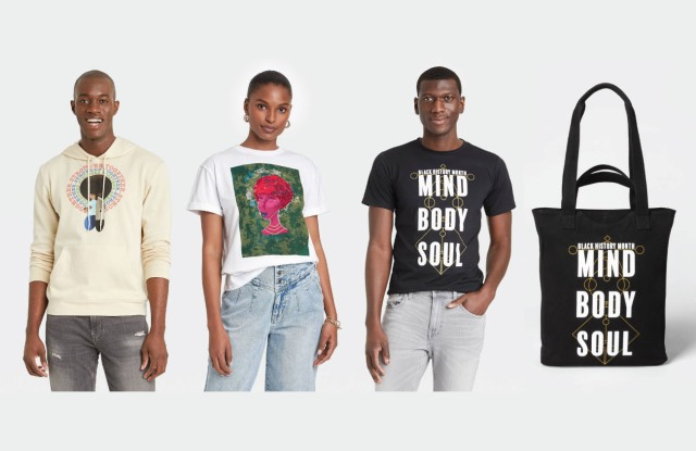 Designs created by three HBCU students as part of Target's inaugural HBCU Design Challenge.