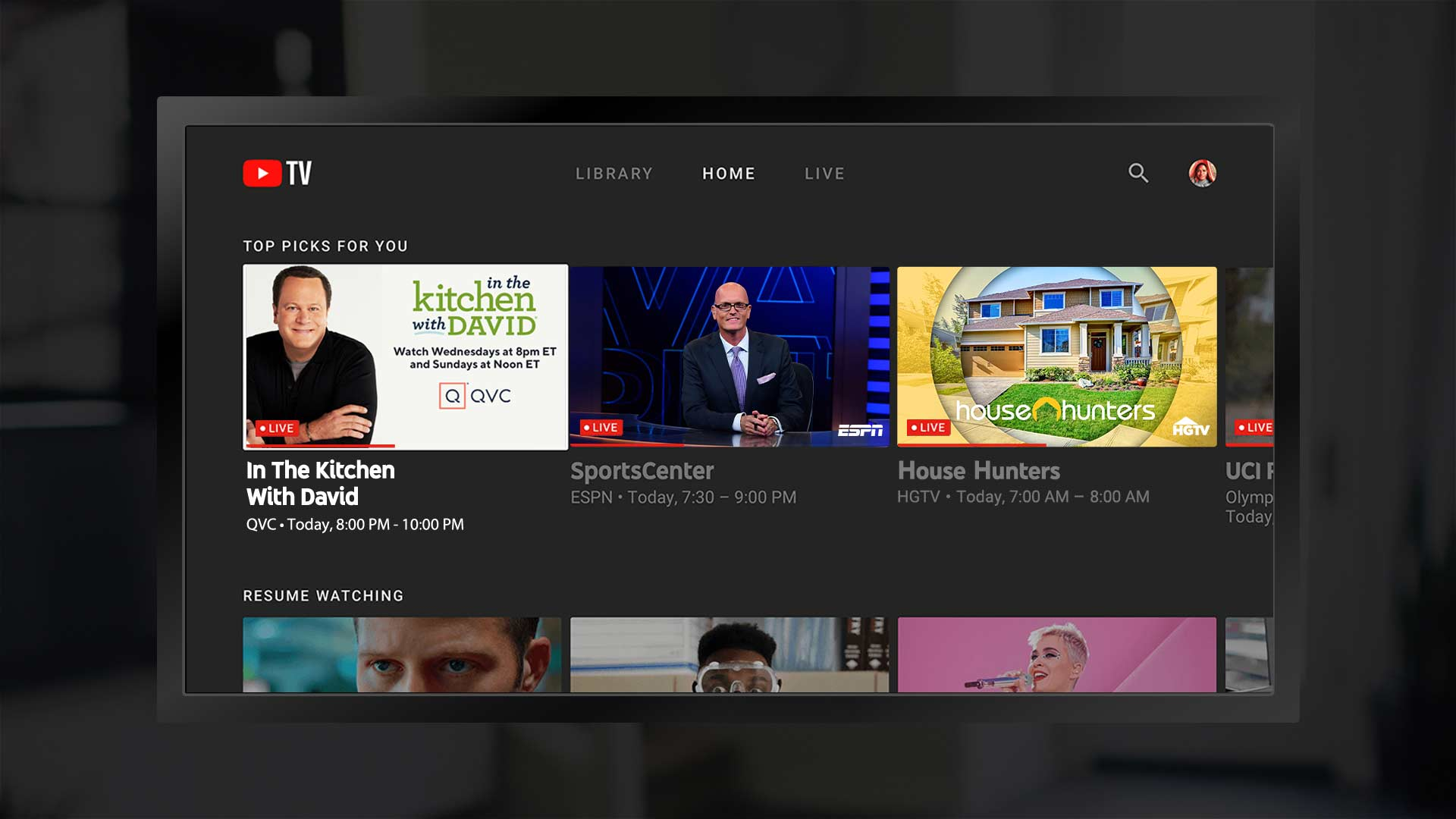 QVC on YouTube-TV.