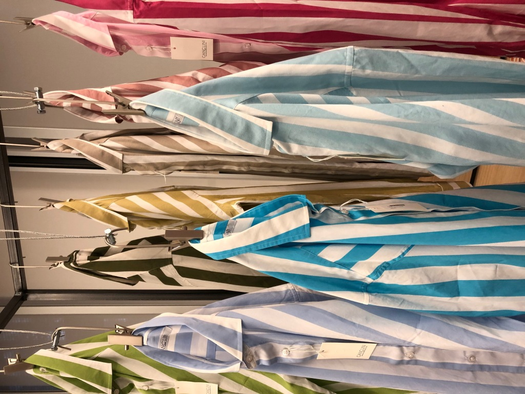 A range of striped shirts from the Canclini 1925 spring 2022 collection.