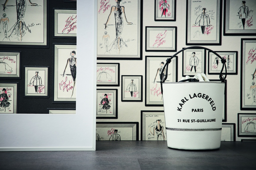 A.S. Création Tapeten AG is creating wallpapers of Karl Lagerfeld's sketches.
