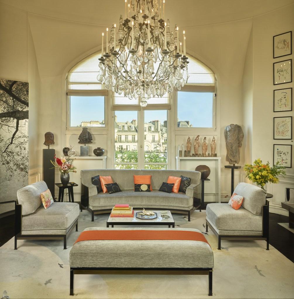 The interior of Kenzo Takada's apartment in Paris.