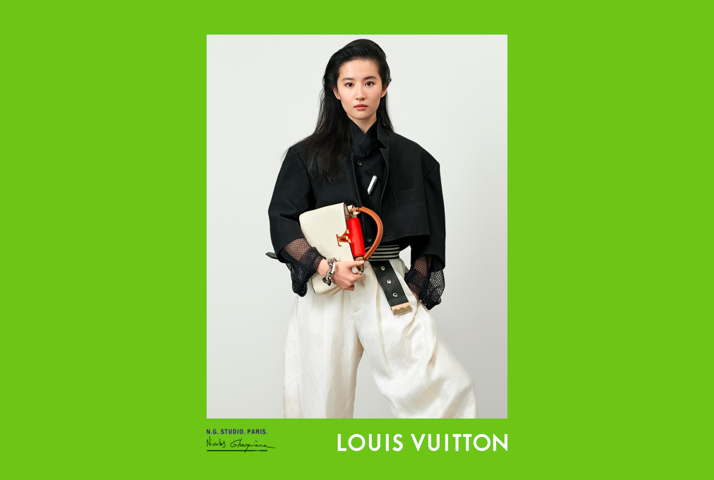 Liu Yifei in the Louis Vuitton spring 2021 campaign.
