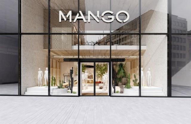 Mango's Mediterranean-style, environmentally-conscious store in Germany.