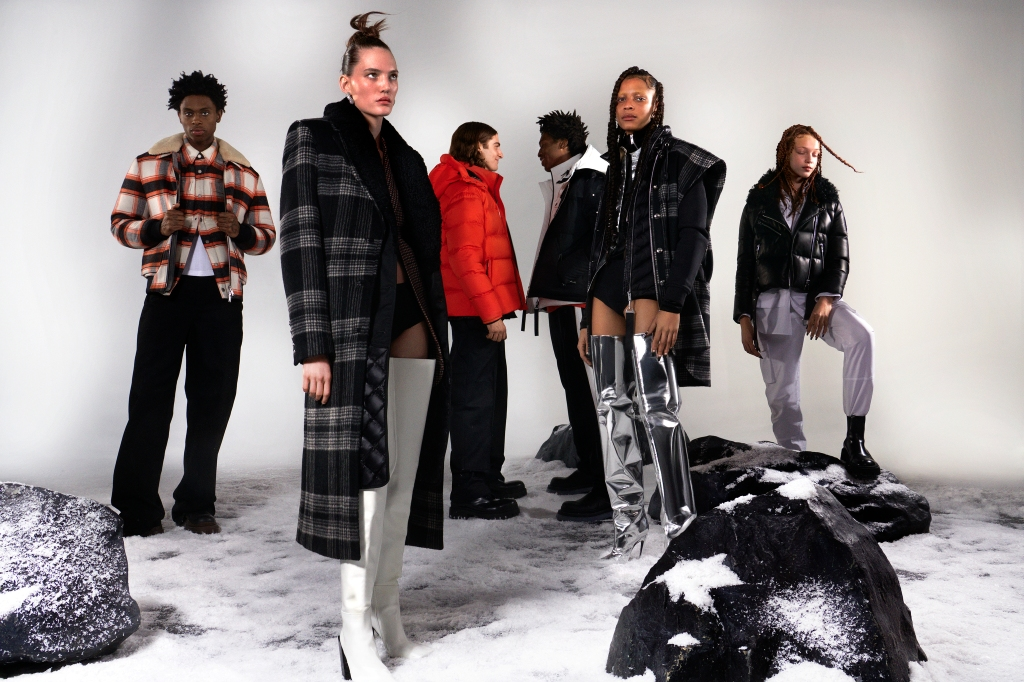 Looks from the latest Moose Knuckles campaign.