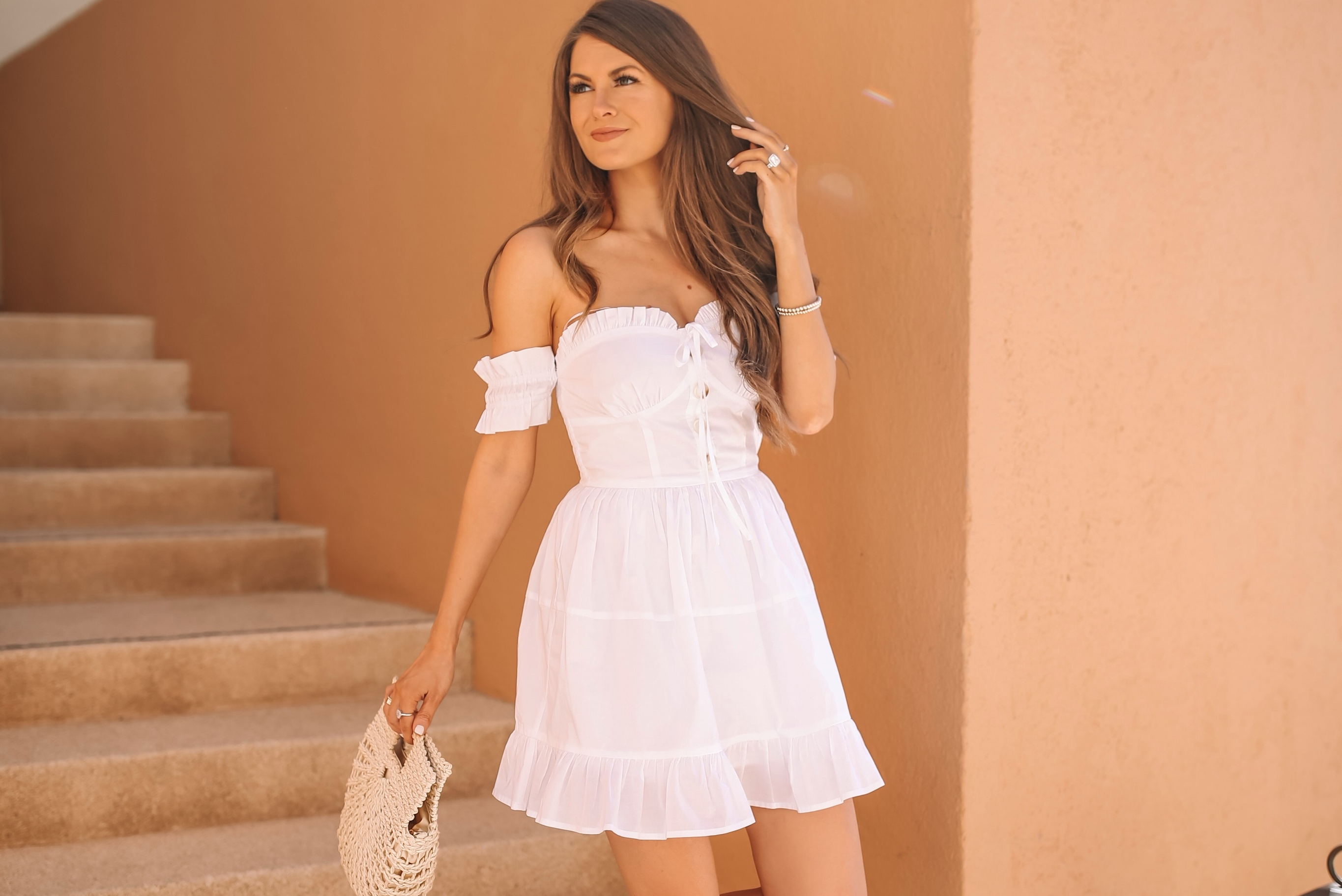 The Mykonos dress from Caitlin Covington x Pink Lily.
