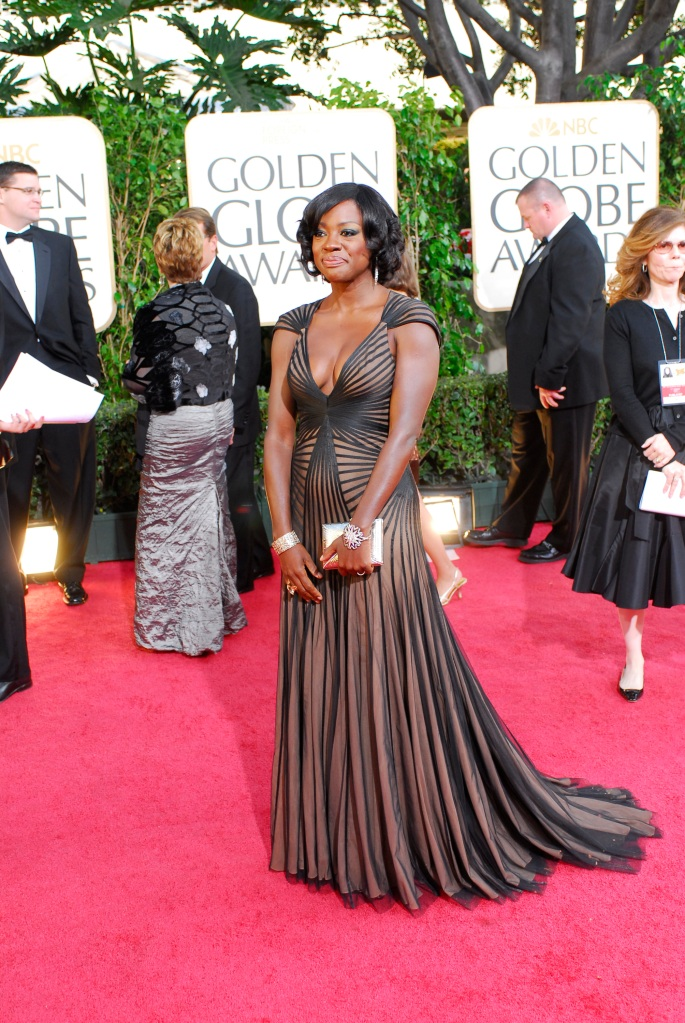 66th ANNUAL GOLDEN GLOBE AWARDS -- Pictured: Viola Davis arrives at the 66th Annual Golden Globe Awards held at the Beverly Hilton Hotel on January 11, 2009 -- Photo by: Dave Bjerke/NBCU Photo Bank