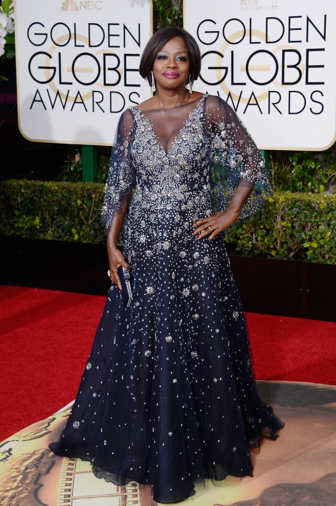 BEVERLY HILLS, CA - JANUARY 10: 73rd ANNUAL GOLDEN GLOBE AWARDS -- Pictured: Actress Viola Davis arrives to the 73rd Annual Golden Globe Awards held at the Beverly Hilton Hotel on January 10, 2016. (Photo by: Kevork Djansezian/NBC/NBCU Photo Bank) *** Local Caption *** Viola Davis