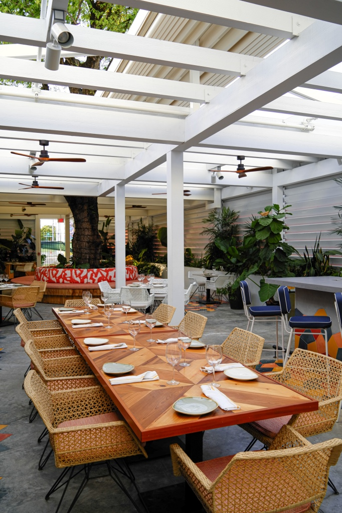 The outdoor patio at Red Rooster in Miami.