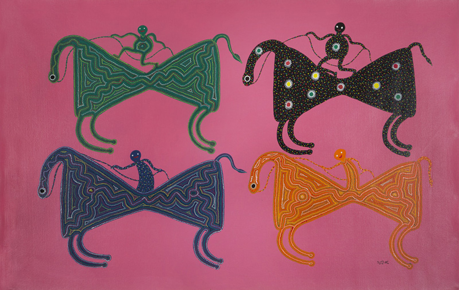 A work by Bhuri Bai, one of the Indian female artists whose work is featured on MAP's website.