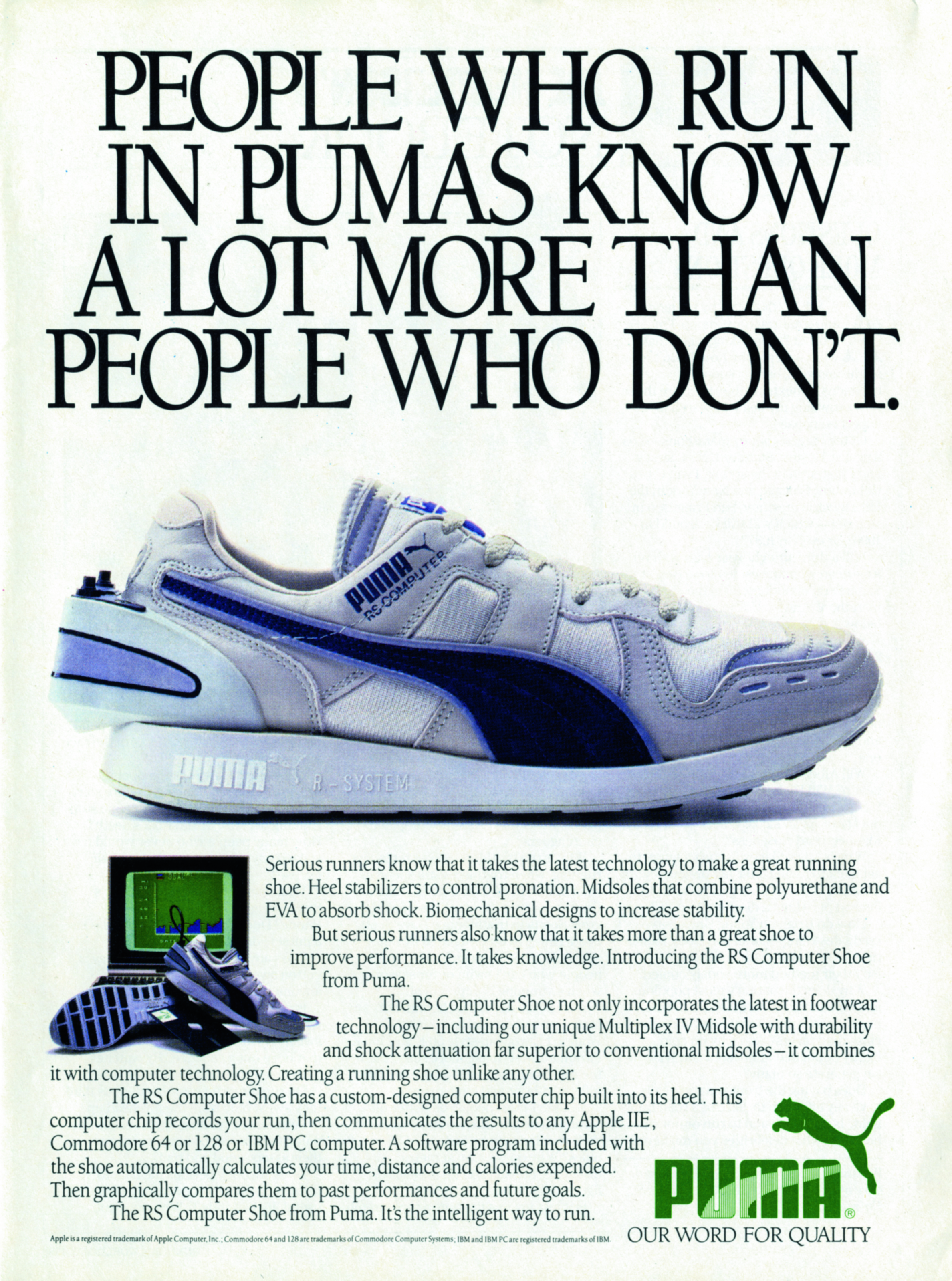 Puma RS Computer Shoe advert from 1986