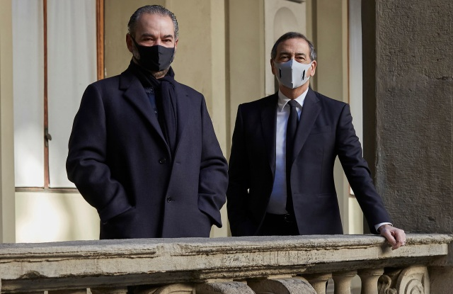 Remo Ruffini and Milan mayor Giuseppe Sala