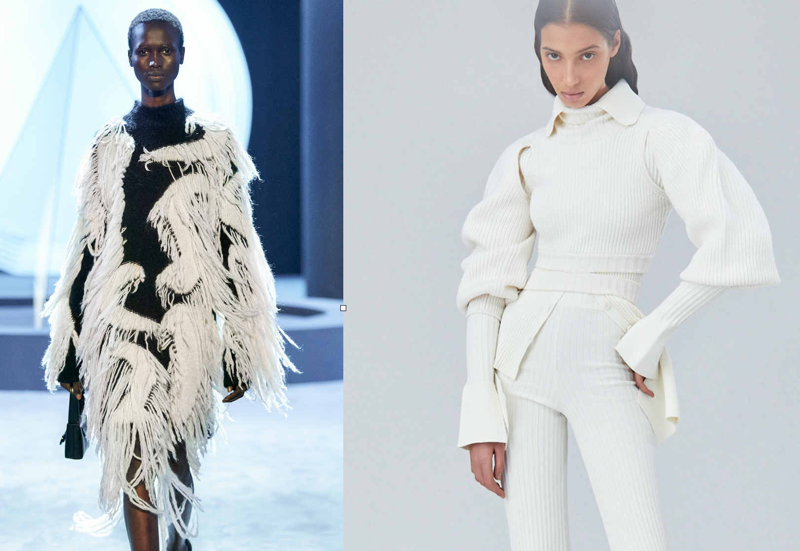 Looks from Salvatore Ferragamo and AndreaAdamo RTW Fall 2021 Collections