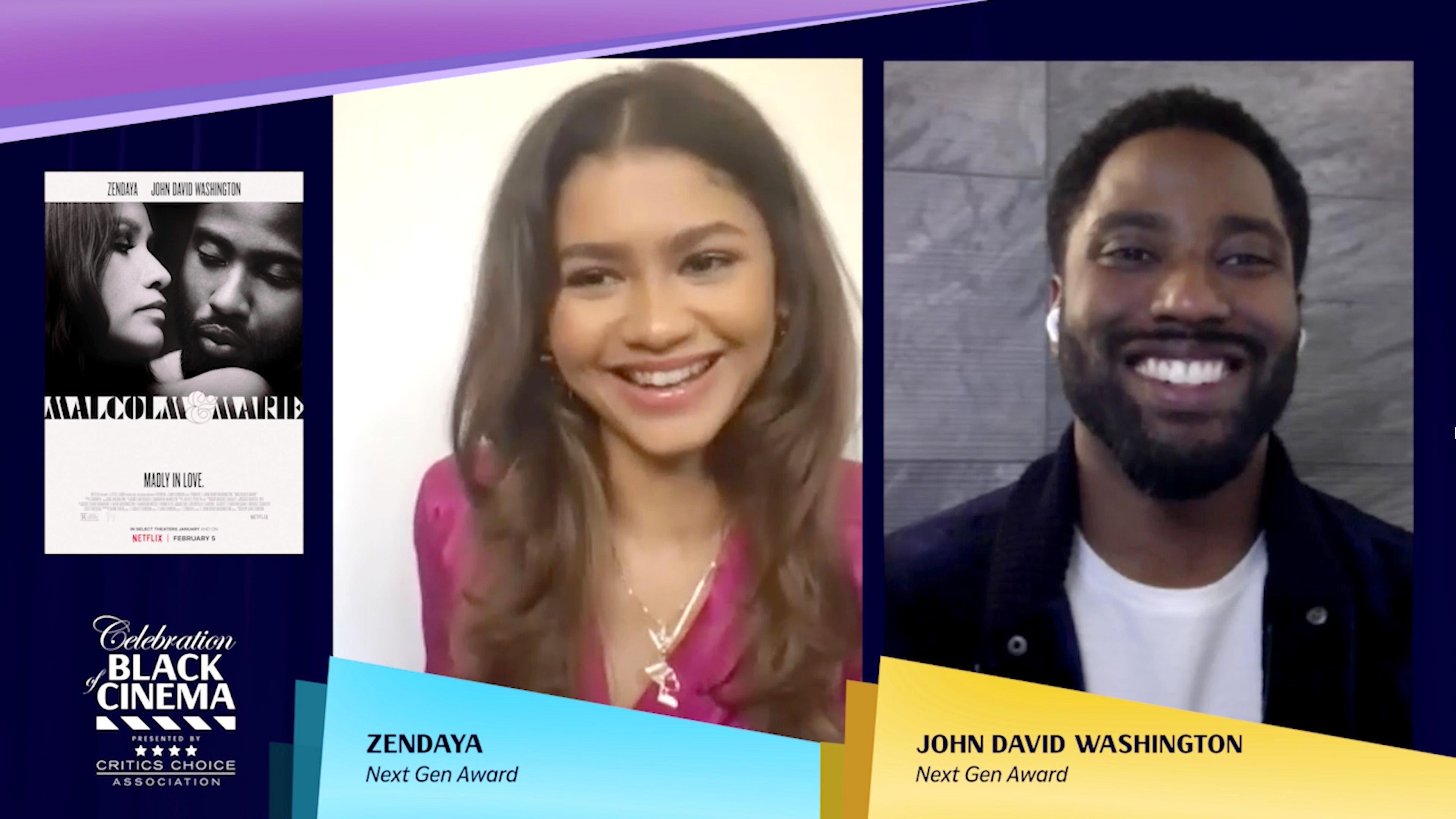 Zendaya and John David Washington Awards