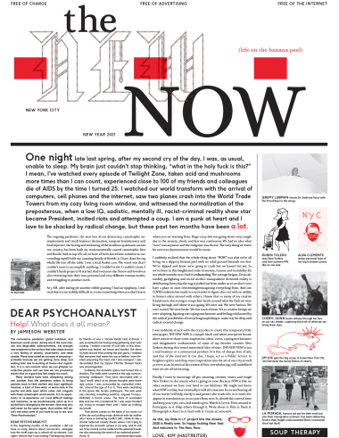 Kim Hastreiter's public art project newspaper, The New Now.