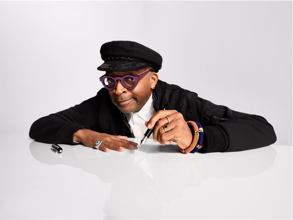 Spike Lee starring in a Montblanc's ad campaign image.