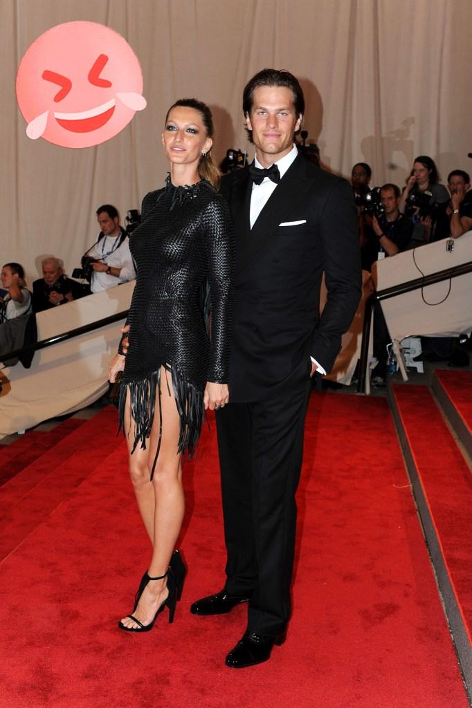 Gisele Bundchen and Tom Brady at The Met Gala, 2010.