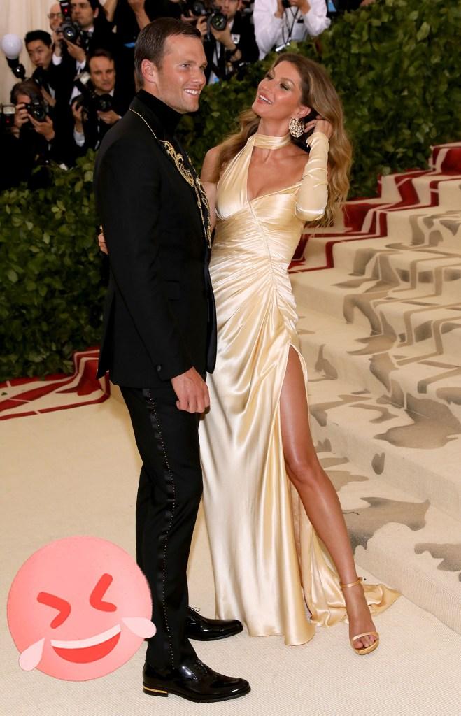 Tom Brady and Gisele Bundchen at The Met Gala, 2018.