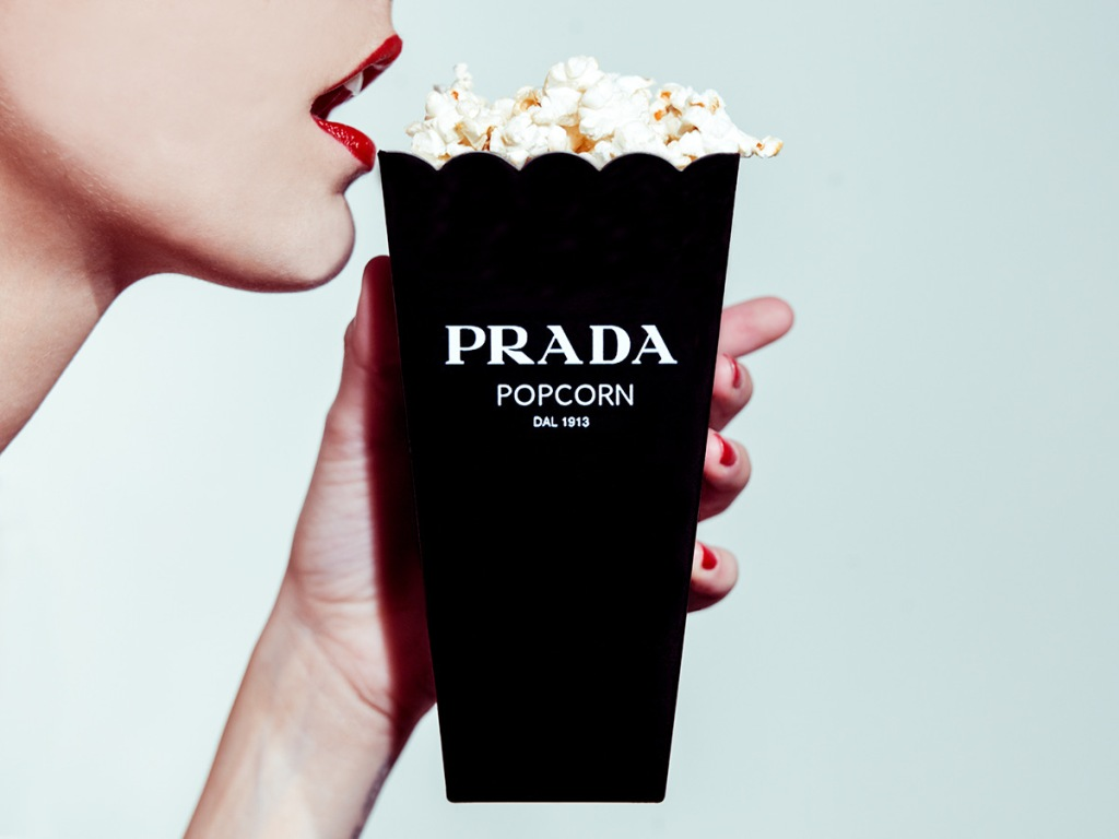 "Tyler Shields, ""Prada Popcorn"" 2014"