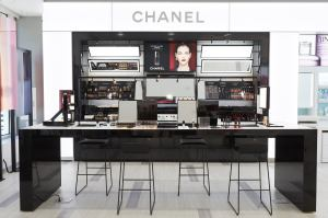 Ulta's Herald Square flagship features a Chanel beauty boutique towards the front.