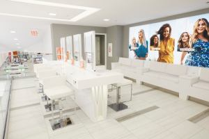 The hair salon at the Ulta Herald Square store is on the mezzanine level.