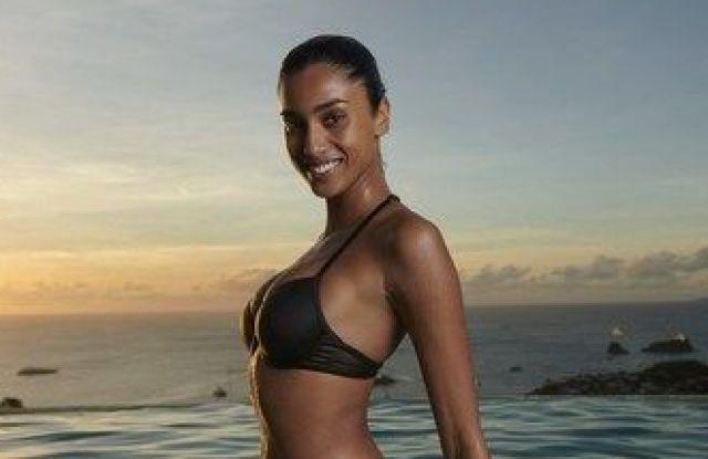 Imaan Hammam featured in the Victoria's Secret Swim Spring 2021 Campaign