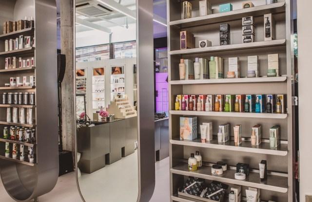 Inside Zalando's 'Beauty Staton' in Berlin.