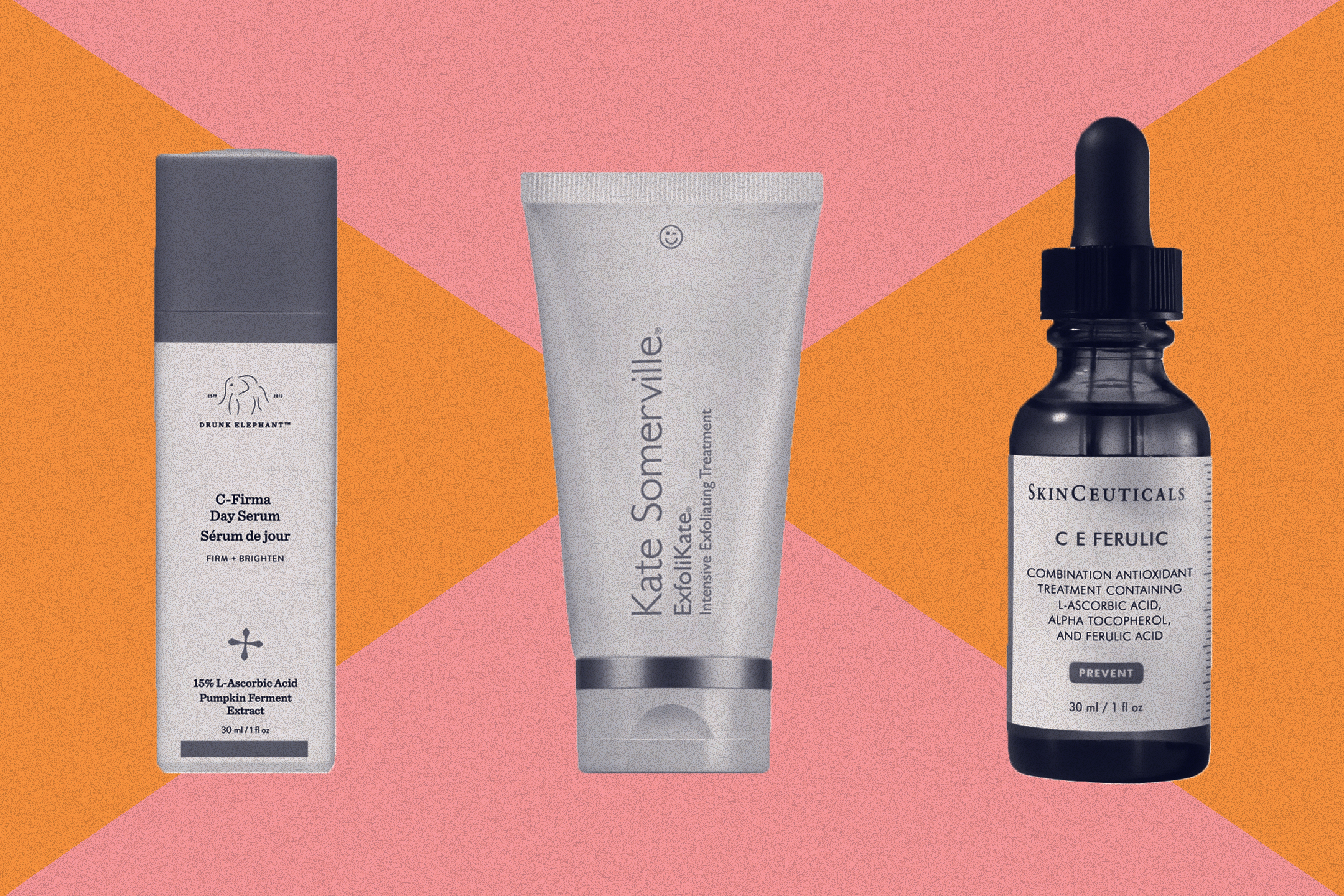 Drunk Elephant, Kate Somerville and SkinCeuticals are among the top clinical skincare products.