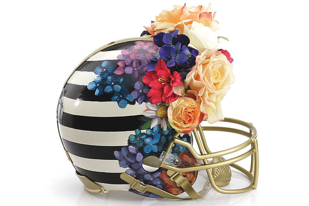Photos of the CFDA's 'Haute Couture' Football Helmets