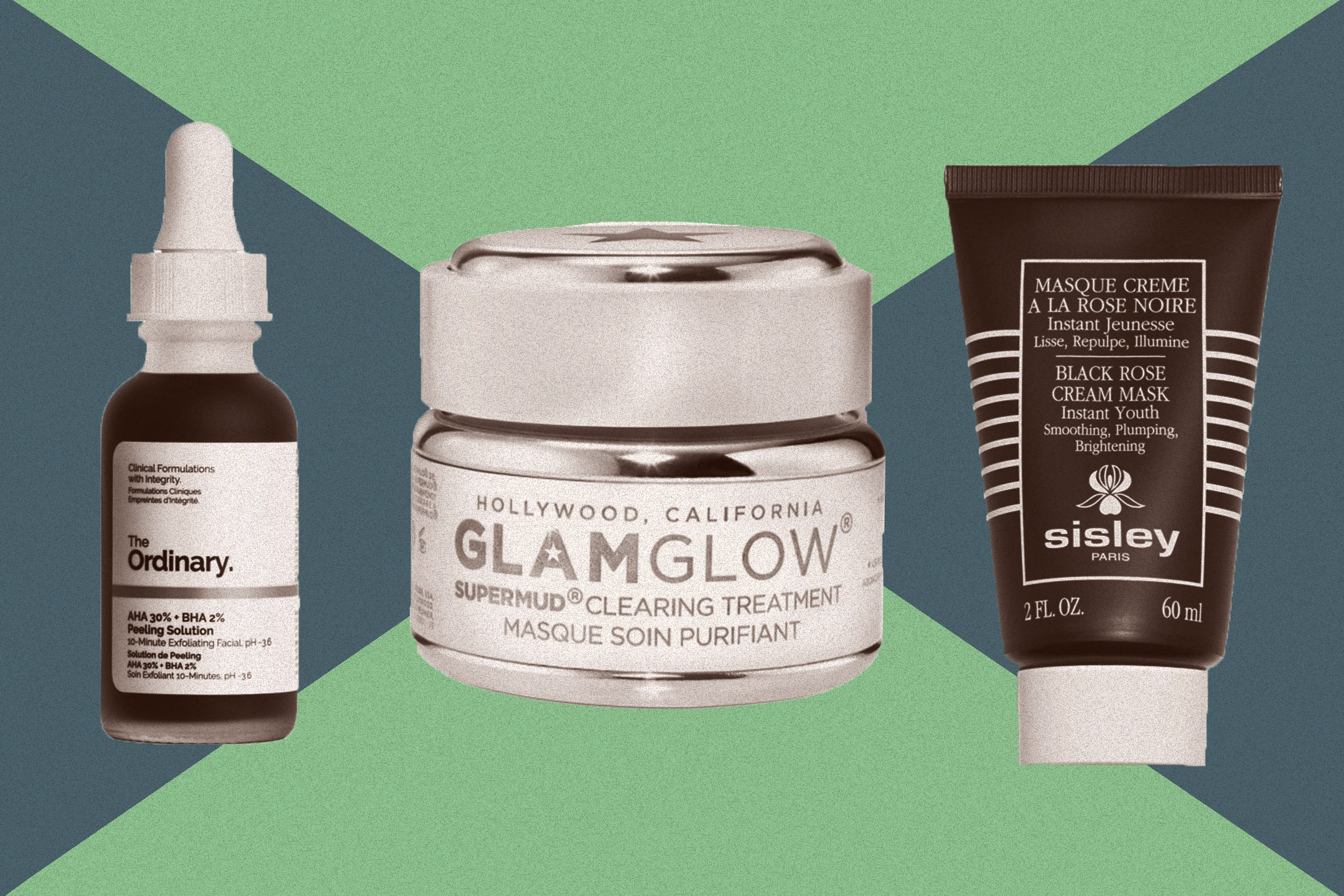 The Ordinary, Glam glow, and Sisley are among the top face masks.