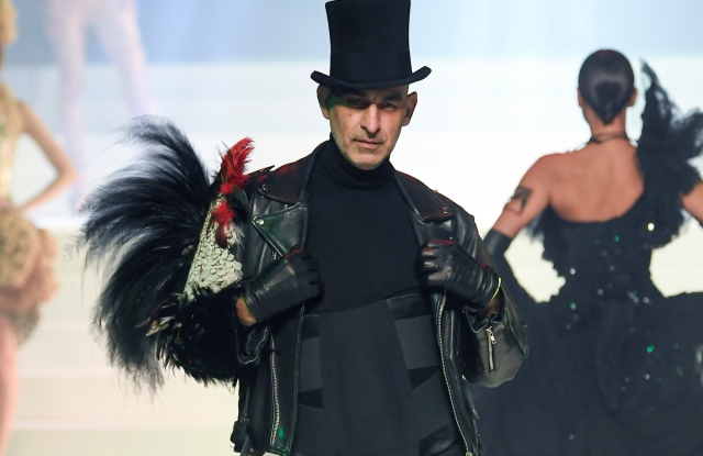 Tanel Bedrossiantz on the catwalk at Jean Paul Gaultier's last couture show in January 2020.